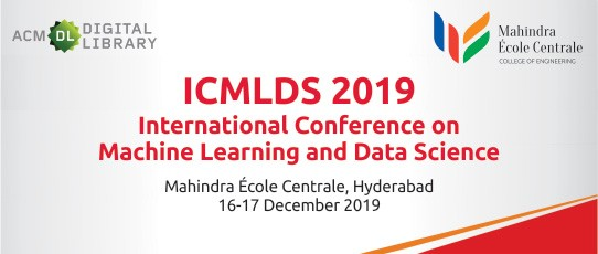 ICMLDS 2019 - The International Conference on Machine Learning and Data Science